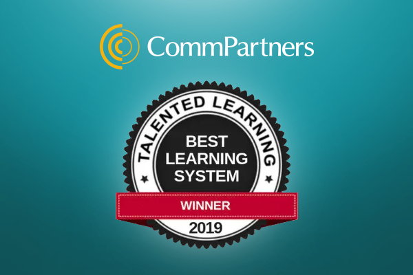 CommPartners Receives Best Continuing Education System Award from Talented Learning